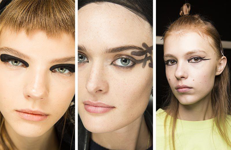 Черный макияж глаз