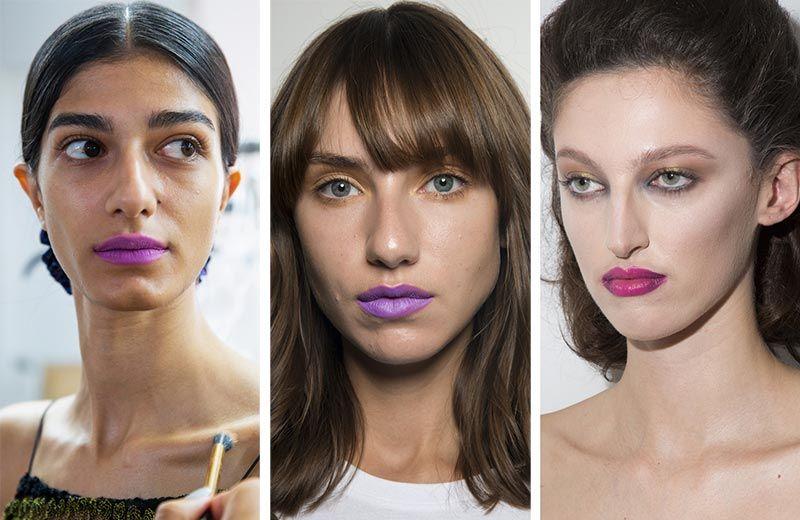 Матовые фиолетовые губы