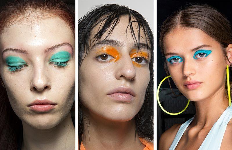 Неоновый макияж глаз